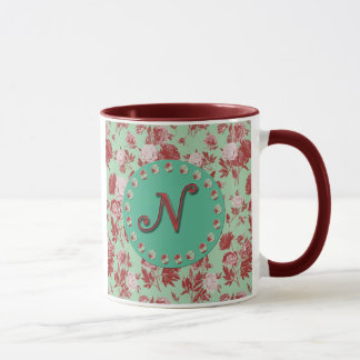 Initiale vintage N Mug