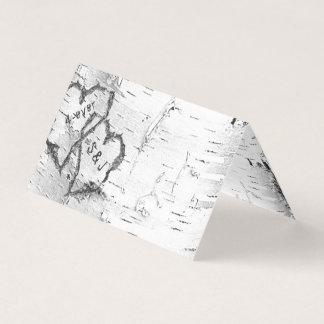 Initiales d'écorce de bouleau dans les cartes