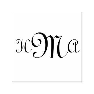 Initiales droites de typo - Auto-Encrage du timbre Tampon Auto-encreur