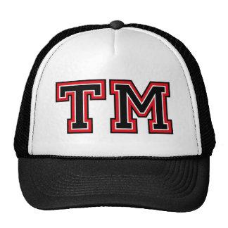 "Initiales du monogramme ""TM"" Casquette Trucker"