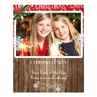 Insecte de fête de Noël avec votre photo Prospectus 11,4 Cm X 14,2 Cm