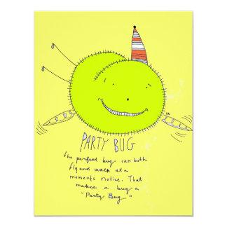 Insecte de partie carton d'invitation 10,79 cm x 13,97 cm