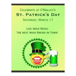 Insecte irlandais de Pub du jour de St Patrick Prospectus 21,6 Cm X 24,94 Cm
