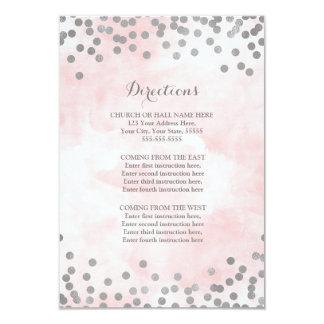 Insertion rose de direction de noces d'argent carton d'invitation 8,89 cm x 12,70 cm