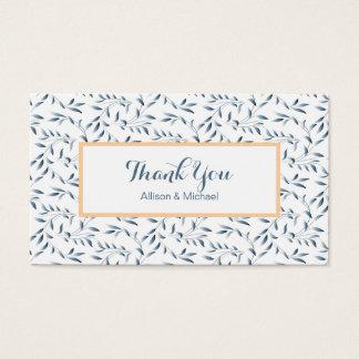 Insertions bleues de carte de remerciements de