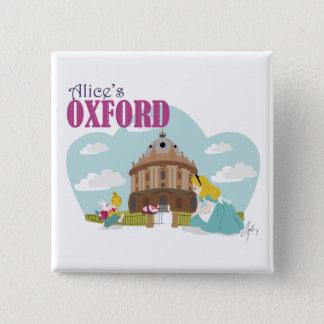 Insigne 2 d'Oxford d'Alice Badge Carré 5 Cm