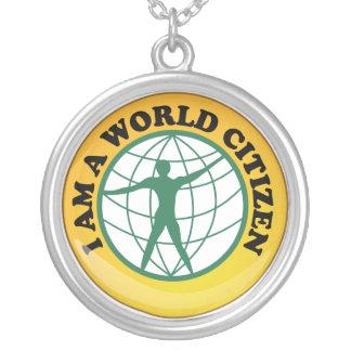 Insigne de citoyen du monde par autorité de servic pendentif personnalisé