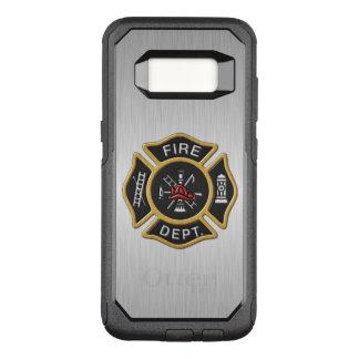 Insigne de corps de sapeurs-pompiers de luxe coque samsung galaxy s8 par OtterBox commuter