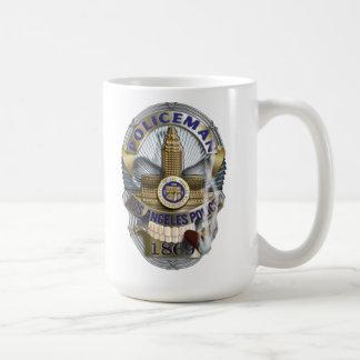 Insigne de crâne de policier mug