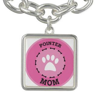 Insigne de maman d'indicateur de cercle bracelets avec breloques