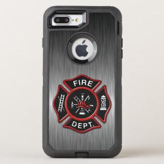 Insigne de sapeur-pompier de luxe coque otterbox defender pour iPhone 7 plus