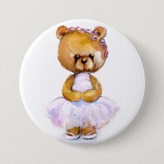 Insigne minuscule de bouton d'ours de ballet badge rond 7,6 cm