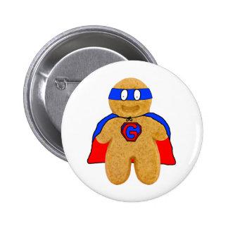 insigne rouge et bleu de superhéros de bonhomme en pin's avec agrafe
