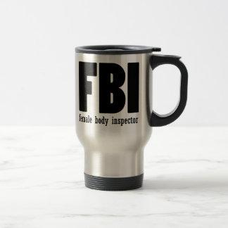 Inspecteur de corps féminin mug de voyage en acier inoxydable