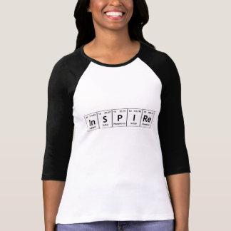 Inspirez la chimie de mot d'éléments de Tableau T-shirt