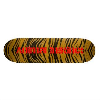 Instinct d'animal de panneau de tigre skateboards personnalisés