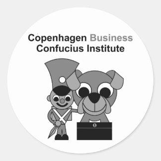 Institut de Confucius d'affaires de Copenhague Sticker Rond