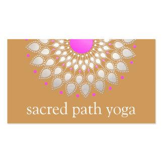Instructeur argenté élégant de yoga de mandala de carte de visite standard