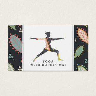 Instructeur moderne à la mode de yoga de Boho Cartes De Visite