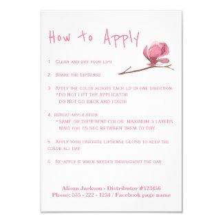 Instructions d'application de distributeur de carton d'invitation 8,89 cm x 12,70 cm
