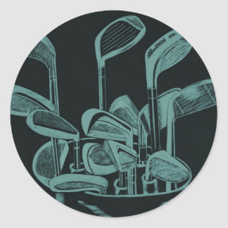 Instruments de golf sticker rond