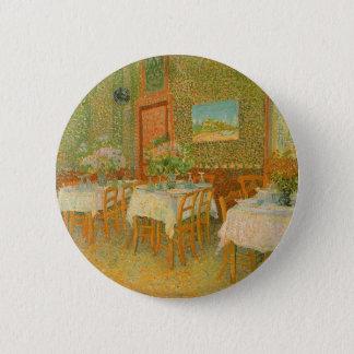 Intérieur d'un restaurant par Vincent van Gogh Badge Rond 5 Cm