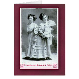 Interprètes de cirque de Josefa et de Rosa sur des Carte