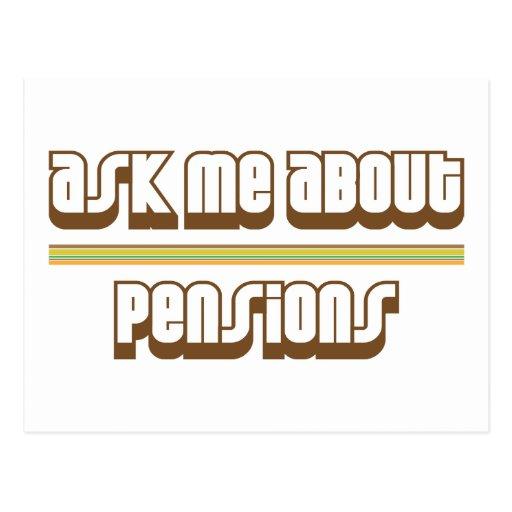 Interrogez-moi au sujet des pensions cartes postales
