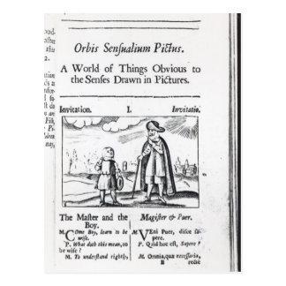 Introduction à 'Orbis Sensualium Pictus Carte Postale