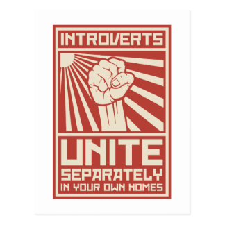 Introverts unissent séparément dans vos propres cartes postales
