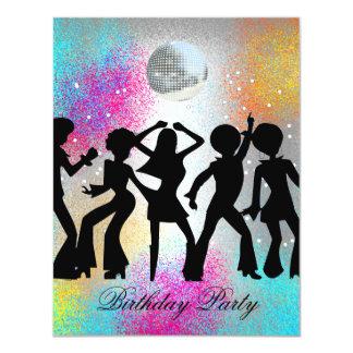 Invitation 1 de fête d'anniversaire de danse de
