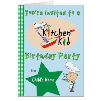 Invitation 1 de fête d'anniversaire d'enfant de carte de vœux