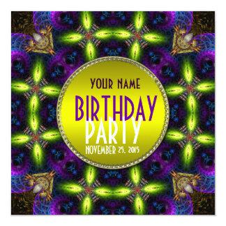 Invitation adulte de fête d'anniversaire de lueur carton d'invitation  13,33 cm