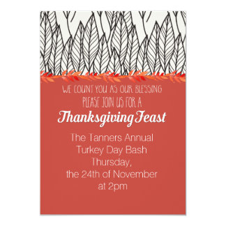 Invitation annuel de festin de thanksgiving