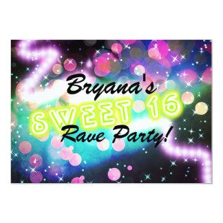 Invitation au néon de fête d'anniversaire de club