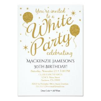 Invitation blanche de partie tout l'invitation