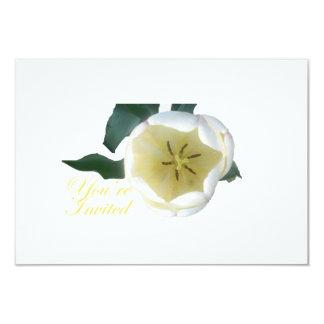 Invitation blanche de tulipe