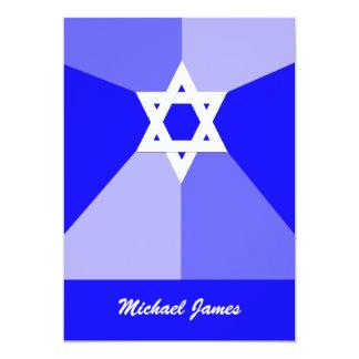 Invitation bleu d'étoile de David d'invitation de