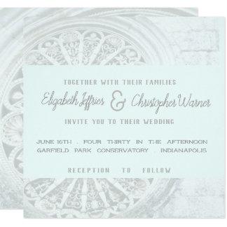 Invitation bleu gris et faible architectural de