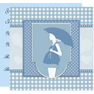 Invitation bleue de baby shower