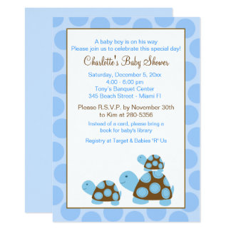 Invitation bleue de baby shower de garçon de