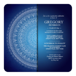 Invitation bleue de minuit de mandala