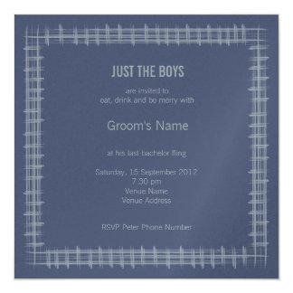 Invitation bleue d'enterrement de vie de jeune