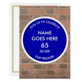 Invitation bleue personnalisable de partie