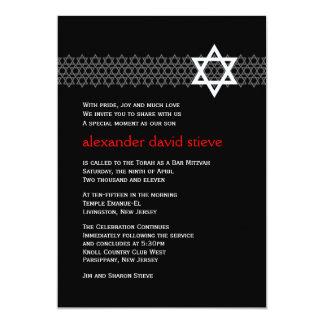 Invitation brillante de Mitzvah de barre d'étoile