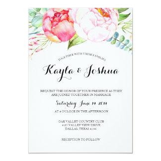 Invitation chic florale