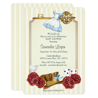 Invitation classique de baby shower d'Alice du