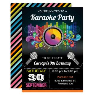 Invitation colorée d'anniversaire de musique de la