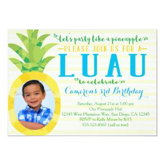 Invitation d'anniversaire d'ananas de Luau de