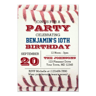 Invitation d'anniversaire de base-ball